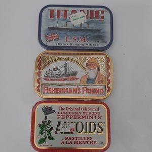 Titanic Altoids Fisherman's Friend Tins